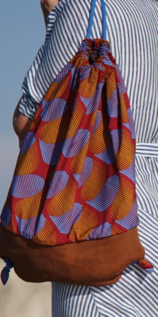 plecak - african wax print