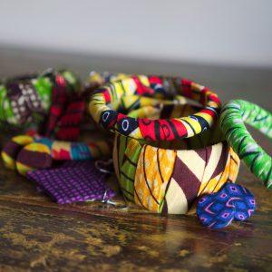 biżuteria african wax print