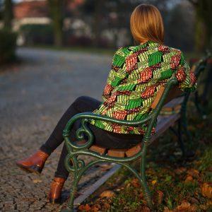 bomberka wax print - ubrania